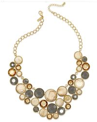 INC International Concepts | Metallic Gold-tone Cream Circle Bib Necklace | Lyst