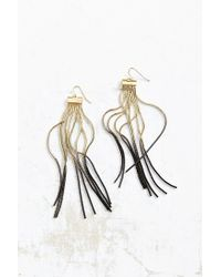 Urban Outfitters | Metallic Fire + Ice Fringe Drop Earring | Lyst