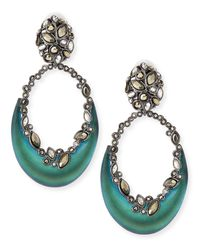 Alexis Bittar - Black Lucite Crescent Clip-On Earrings - Lyst