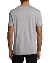 Psycho Bunny | Gray Logo-grid Pima Jersey Tee for Men | Lyst