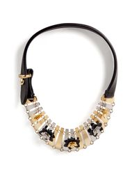 Fendi - Multicolor Leather Detailed Necklace - Lyst