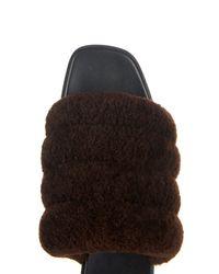Edun   Brown Shearling Sandals   Lyst
