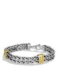 David Yurman | Metallic Two-station Chain Bracelet With Gold for Men | Lyst
