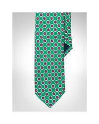 Polo Ralph Lauren - Green Silk Foulard Narrow Tie for Men - Lyst