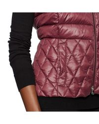 Ralph Lauren | Red Mockneck Down Vest | Lyst