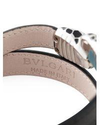 BVLGARI - Black Snake Wrap Bracelet for Men - Lyst