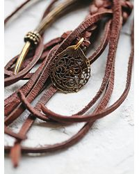Free People | Brown Labradorite And Leather Necklace | Lyst