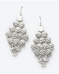 Ann Taylor | Metallic Hammered Dot Chandelier Earrings | Lyst