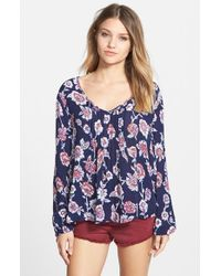 Billabong | Blue 'heart Strayed' Top | Lyst