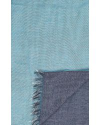 Barneys New York - Blue Three-Layer Scarf for Men - Lyst
