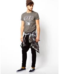 Pepe Heritage - Gray Tshirt Barrel Overdye Marl for Men - Lyst