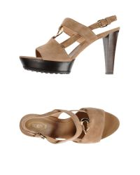 Tod's - Natural Sandals - Lyst