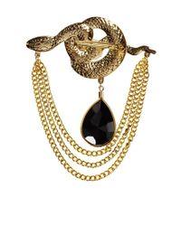 ASOS | Black Susan Caplan Exclusive For Vintage 80s Serpent Brooch | Lyst