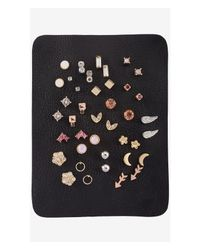 Express - Multicolor Set Of 20 Pairs Of Stud Earrings - Lyst