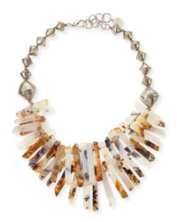 Nest | Metallic Montana Agate Point Necklace | Lyst