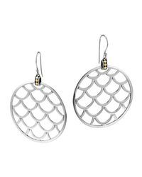 John Hardy | Metallic Naga Gold & Silver Large Round Earrings | Lyst