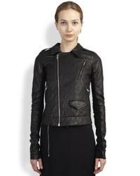 Rick Owens | Black Leather Stooges Jacket | Lyst