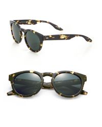Barton Perreira - Green 52mm Printed Round Sunglasses - Lyst