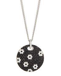 Roberto Coin - Black Sapphire Flower Pendant Necklace - Lyst