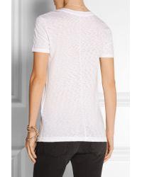 Rag & Bone - White Slub Cotton T-shirt - Lyst