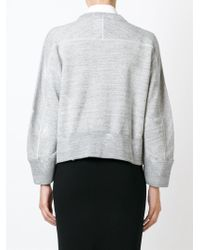 DSquared² - Gray Rebel Print Cropped Sweatshirt - Lyst