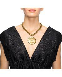 Lulu Frost - Metallic New Written in Stone Message Locket Short Necklace - Lyst