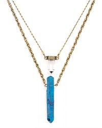 BaubleBar - Blue Bamm-bamm Layered Pendant - Lyst