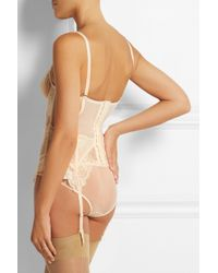 L'Agent by Agent Provocateur - Natural Mirabel Tulle And Lace Basque - Lyst