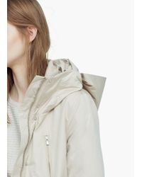 Mango - Natural Casual Hooded Parka - Lyst
