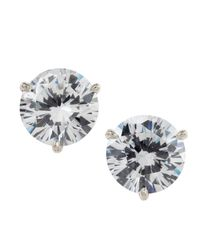Fantasia by Deserio | Multicolor Martini-cut Rhinestone Stud Earrings | Lyst