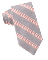 MICHAEL Michael Kors | Gray Silk-blend Stripe Tie for Men | Lyst
