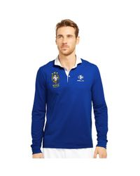 "Ralph Lauren | Blue ""rlx"" Country Pima-blend Polo for Men | Lyst"