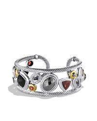 David Yurman | Metallic Mosaic Cuff With Hematine, Diamonds & Gold | Lyst
