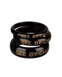 See By Chloé | Black Bracelet - Acc 9K7079-N21 | Lyst