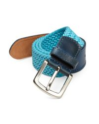 Isaia - Blue Fibbia Braided Leather Belt for Men - Lyst