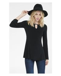 Express | Black Keyhole Front Ladder Back Tunic | Lyst