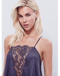 Free People - Purple Jones Cami Something On The Side Shortie - Lyst