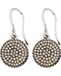 Astley Clarke - Small Icon 14ct White Gold Drop Earrings - Lyst