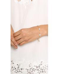 Michael Kors - Metallic Pave Delicate Heart Bracelet - Lyst