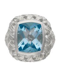 Slane | Blue Basket Woven Topaz Ring | Lyst