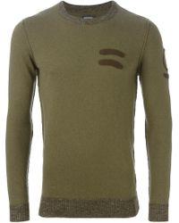 DIESEL - Green Crew Neck Sweater for Men - Lyst