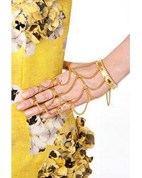 Eddie Borgo | Metallic Jacket Hand Piece - Gold | Lyst