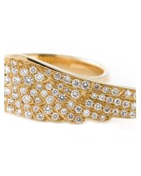 Garrard - Metallic 'wing' Diamond Ring - Lyst