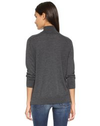 Autumn Cashmere - Gray Cashmere Mock Neck Sweater - Lyst