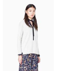 Mango | Gray 100% Cashmere Sweater | Lyst