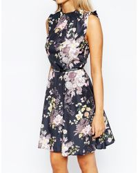 Oasis - Multicolor Winter Floral Skater Dress - Lyst