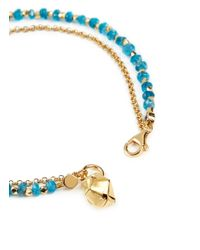 Astley Clarke - Green 'little Parcel' 18k Gold Apatite Friendship Bracelet - Fortune & Abundance - Lyst