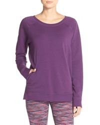 Zella - Purple 'decibel' Pullover Sweatshirt - Lyst