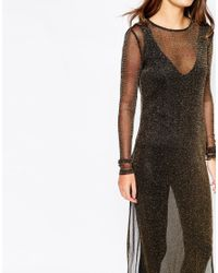First & I - Black Metallic Maxi Top - Lyst