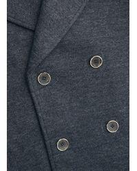 Mango - Gray Wool Knit Peacoat for Men - Lyst